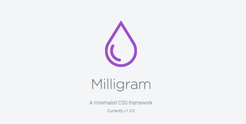 milligram framework