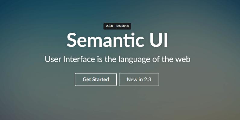 semantic ui framework