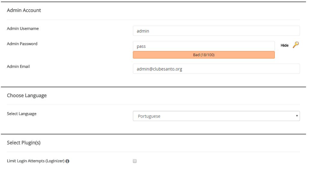 configuração softaculous 2 parte