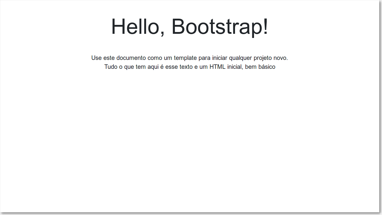 documento simples bootstrap