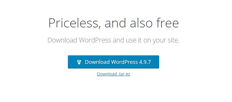Baixar o WordPress