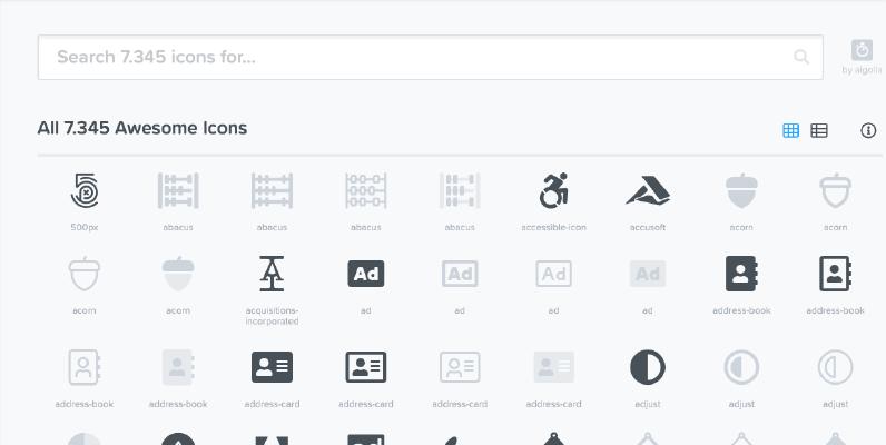 Onde pegar o código dos ícones