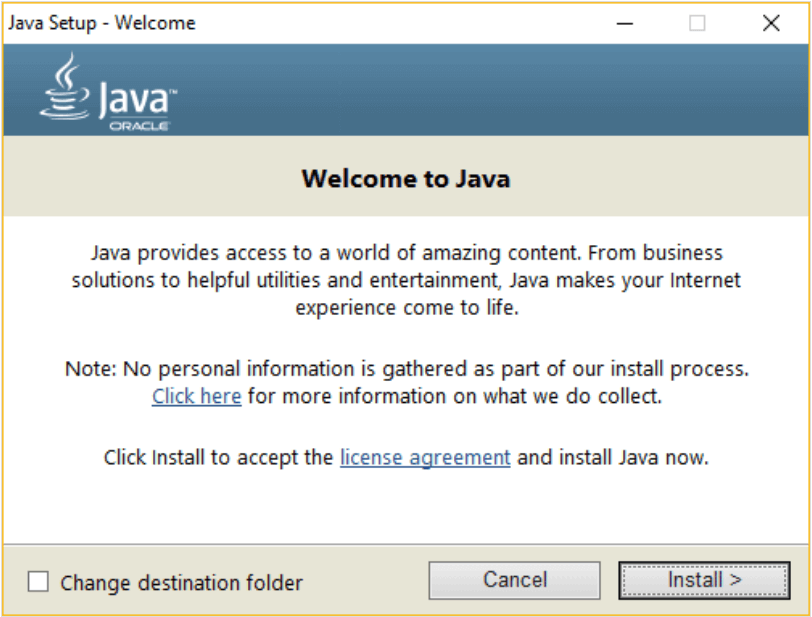 instalar java no windows