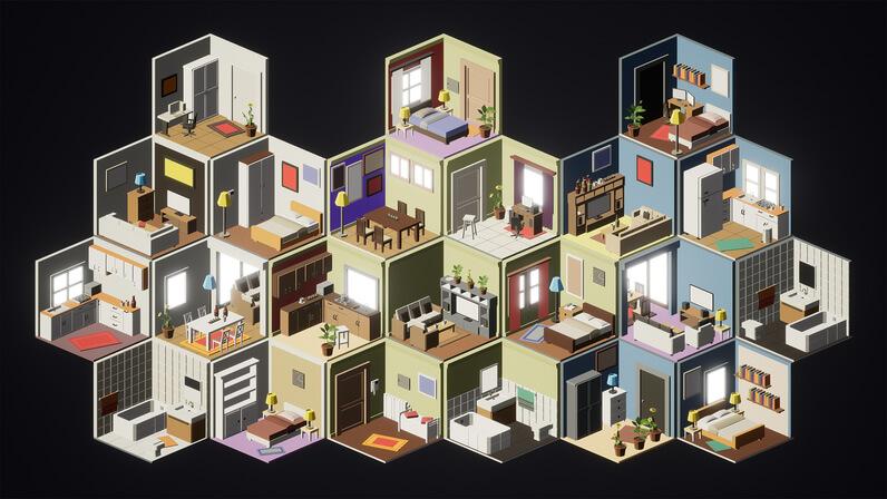 isometric - interiors