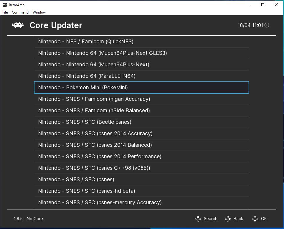update core